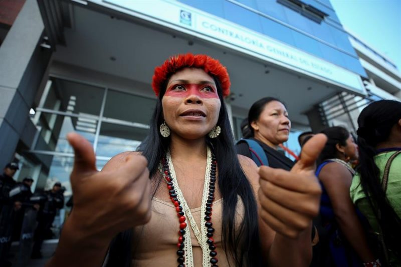 líderes indígenas Premio Goldam