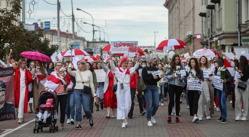 revolución mujeres de blanco Bielorrusia