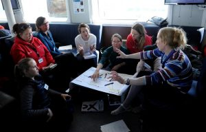mujeres Antártida